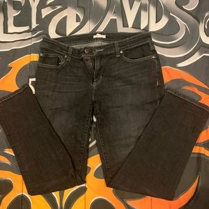 Eileen Fisher Black lighter wash jeans size 6 EUC